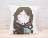 Geek Girl Pillow Cover - Throw Pillow Cover - Cushion Cover - Ecofriendly