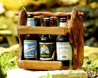 THE RELIC No. 3 - Beer Carton - Six Pack Carrier - Original Creation - Cold Creek Brewing