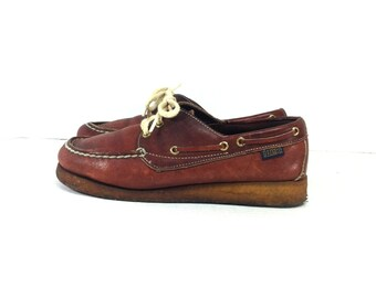 Oxblood Leather Boat Shoes 9 - Dexter Lace Up Boat Shoe Loafers 9 - Moccasins
