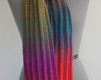 Bright colorful pink/green/orange/turquoise scarf