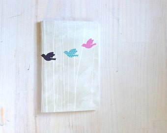Large Notebook: Birds, Inspiration, Notebook, Unlined, Journal, For Her, For Him, Gift, Unique, Blank Journal, Unlined Journal, L8-001