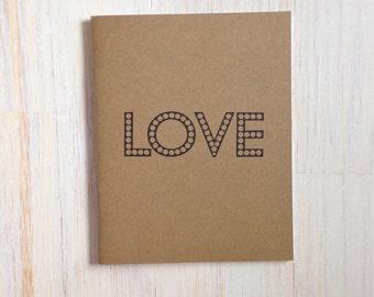 Medium Notebook: Love, Brown, Bridal Shower, Romance, Blank Journal, Wedding, Favor, Journal, Blank, Unlined, Unique, Gift, Small, Notebook