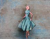 Fabulous Fashion Brooch - 1950s Fashion - Fifties - Made in Australia
