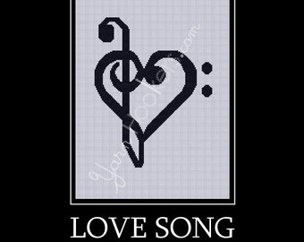 Love Song - Afghan Crochet Graph Pattern Chart - Instant Download