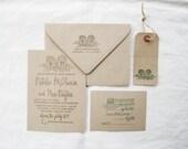 Wedding Invitation Suite - Invitation, RSVP, Address and Monogram Stamps - Custom Wedding Invite - Invitation Stamp - Vineyard - H6950