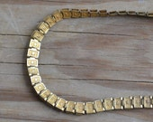 Amazing rare gold filled victorian / edwardian / early art deco book chain necklace with star design