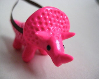 Little Pink Triceratops Ornament - Ready to Ship