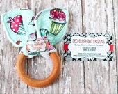 Organic maplewood cotton and minky teether