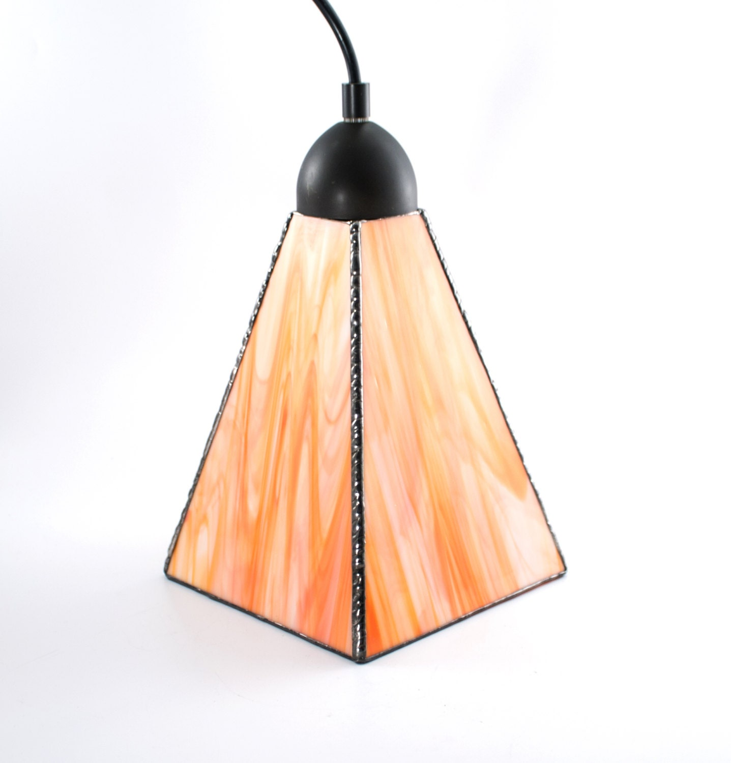 Stained glass pendant lighting glass shade kitchen island for Modern island pendant lighting