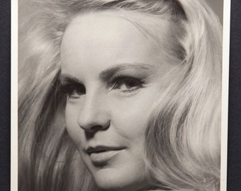 1960's Blonde Headshot - Studio Portrait - Piercing Eyes - Original 8x10 B&W Photograph by Henry Levy