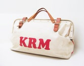 Overnight Bag - KRM Monogrammed Vintage Luggage