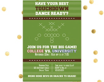 Touchdown Dance - Big Game Tailgate Wedding Party Shower Game NFL NCAA - BAMA - Football  School Colors Team Couples Bride Groom