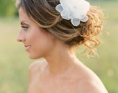 Bridal Silk Flower Clip. Bridal Flower Hair Piece.