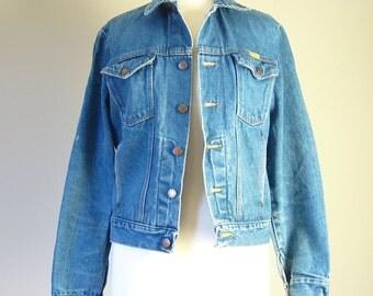 Vintage DENIM JACKET/JEAN Jacket/size small-medium