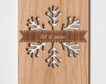Snowflake Holiday Card, Beautiful Christmas Card, Christmas Decor