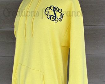 Women's Monogrammed Hooded Sweatshirt, Pullover Hoodie