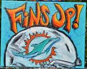 Fins Up! Miami Dolphins 2013 Logo Fine Art