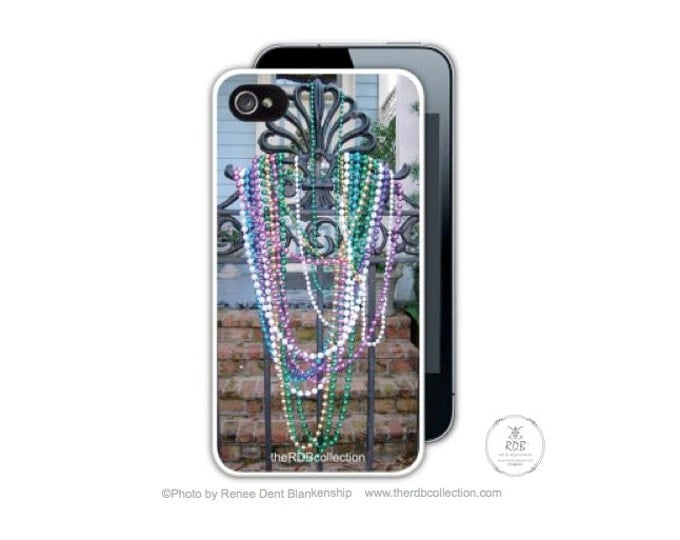 Beaded Gate Phone Case - New Orleans Home - Mardi Gras Case -  iPhone - Samsung - Smartphone - theRDBcollection