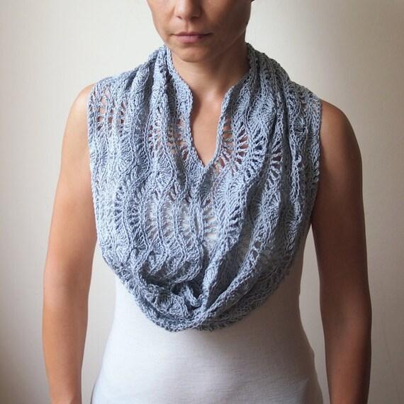 Bolero Scarf Shawl Neckwarmer Crochet Pattern : Crochet pattern loop scarf lacy woman caplet shrug shawl