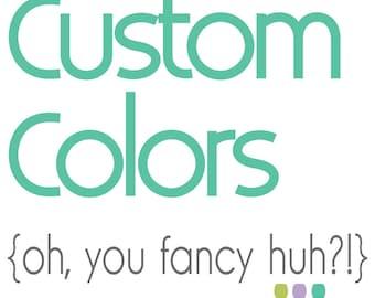 Custom Colors & Design Changes - Add On