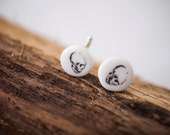 RIP - Skull printed porcelain cuff-links