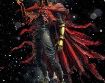 Final Fantasy VII Vincent Valentine Painting  - signed museum quality giclée fine art print