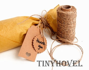1 Roll / 50 Meter Classical Kraft JUTE Twine String for crafting, gift wrapping, packaging, invitations