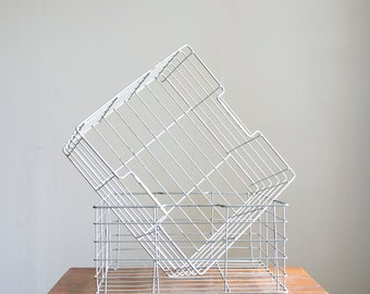 50% OFF Spring Sale - Vintage Wire Crate Metal Stacking Crate