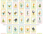 Alphabet & Counting Card Set - In a Little Teacup Animals (ABC+123)