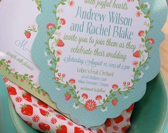 Vintage Hanky Wedding Stationery —Deposit for invitation order