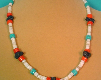 """Colorful Southwestern Style 20"""" necklace. - N267"""