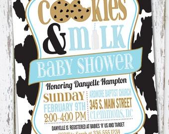 Milk and Cookies Invite