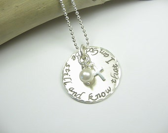 Custom Christian Jewelry - Scripture Jewelry - Sterling Silver Faith Jewelry - Bible Verse Jewelry