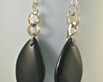 SALE - Blackstone Teardrop Dangle Earrings
