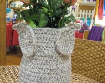 Crochet Owl Vase