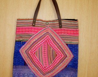 SALE Olina Handbag Hmong Tribal Fabric Tote