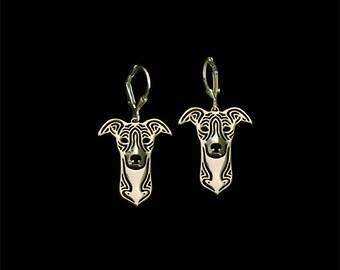 Whippet earrings - Gold
