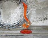 RESV'D FOR MARIA Rare Salviati Murano Glass Aventurine Dolphin Decanter, Murano Art Glass, Murano Art Glass Sculpture, Murano Glass