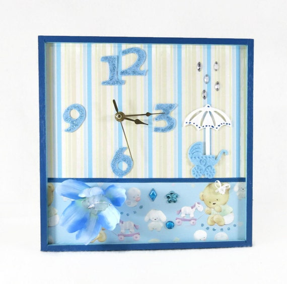 Novelty Baby Gifts Australia : Unique wall clock nursery decor art by