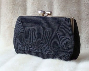 50's Cordé Clutch Black