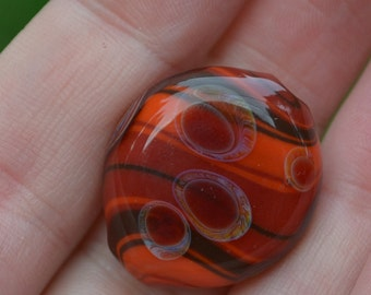 Small Handblown Spiral Bead with Dots