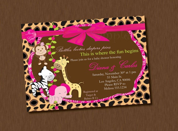Printable Safari Baby Shower Invitations as great invitations layout