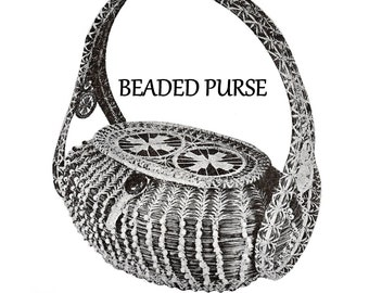 Digital Download Gorgeous Pine Needle Beaded Purse Pattern - Retro Basketry Pattern Basket Weaving Supplies