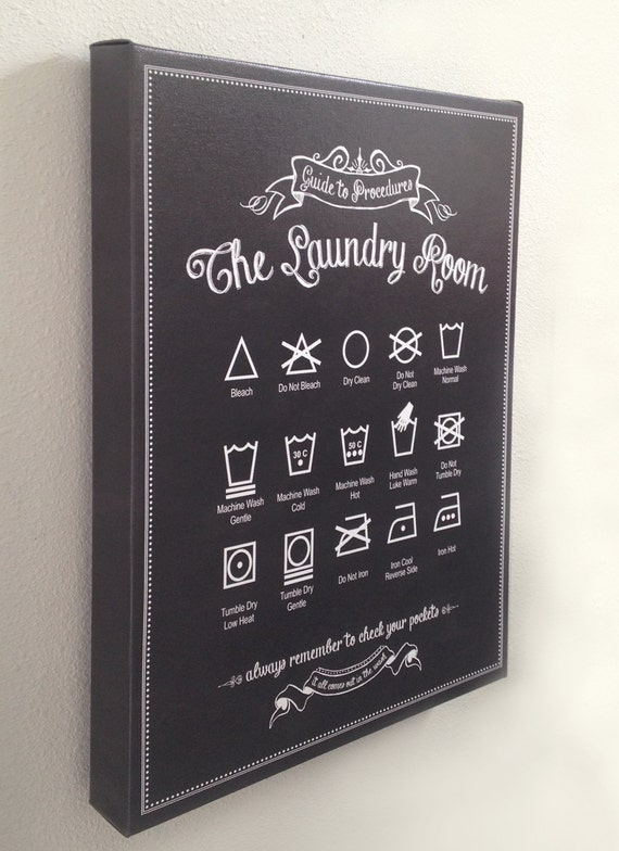 Guide To Laundry Poster Canvas Guide To Procedures The Laundry Room 12X18 Gallery