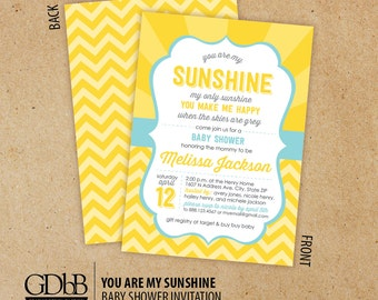 you are my sunshine baby shower inv itations colors used tiffany
