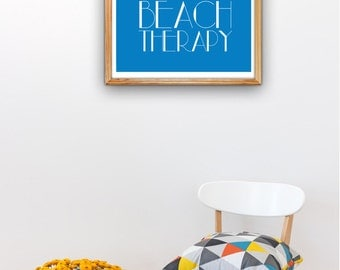 Beach Therapy Beach poster A3 plus sized Poster Wall Art - Decorative poster print. Decor Nautical Decor Wall Art Beach House Decor SPP023