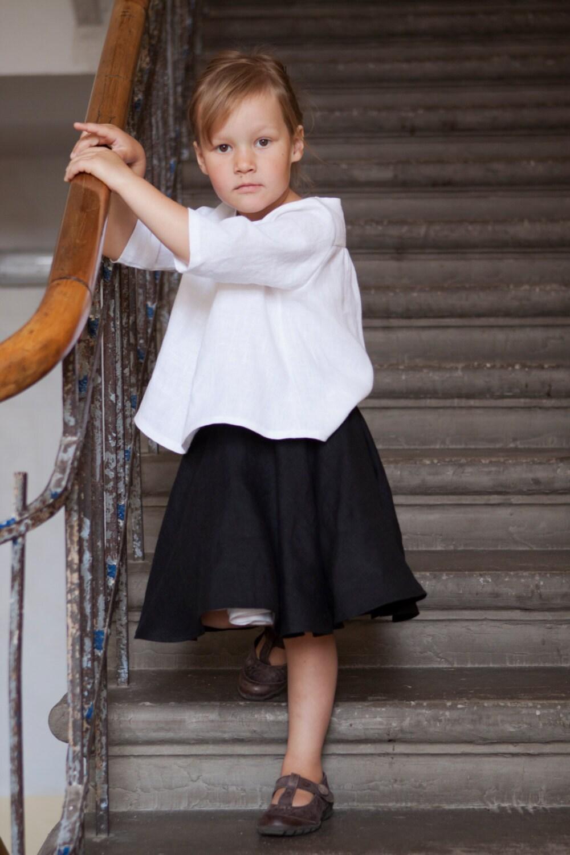 Girls Blouse Toddler Girls White Linen Blouse Girls By