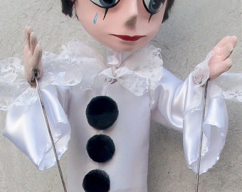 Rod Puppet. Professional handmade Puppet art-doll. Dolls and Miniatures. Unique Puppet Made to order