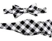 Father Son Bow Tie Sets - Black Gingham