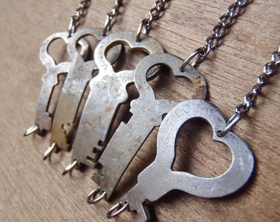 Antique HEART-Shaped Key Bracelets with REAL keys! - Repurposed - Upcycled - Handmade - Vintage - Steampunk